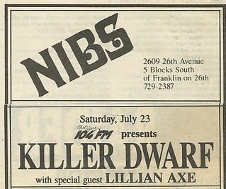 07/23/88 Killer Dwarfs/ Lillian Axe @ Nibs, Minneapolis, MN
