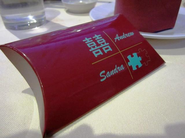 Door gift, banquet 1