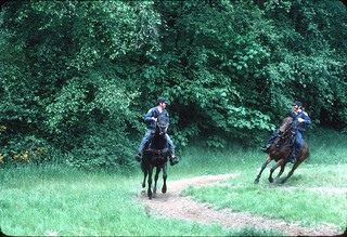 Police mounted patrol in Discovery Park, 1976
