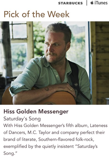 Starbucks iTunes Pick of the Week - Hiss Golden Messenger - Saturday's Song