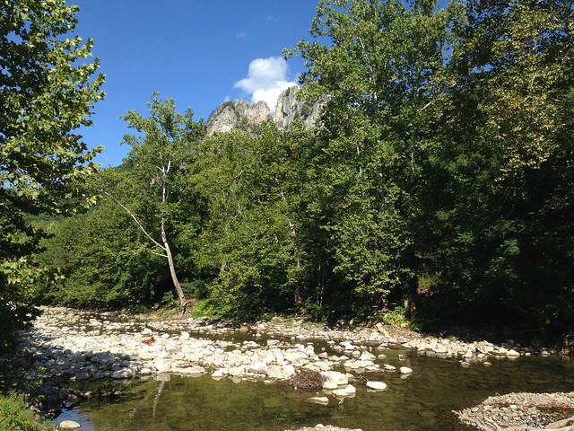 Seneca Rocks from the North Fork River