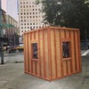 Wooden Tardis? Art project? #art #seattle