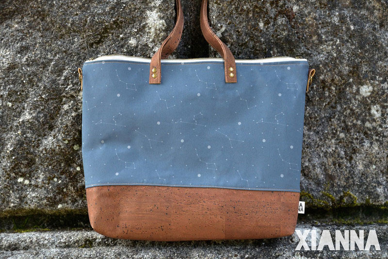 Constellations Xianna cork bag and organic cotton Universe collection