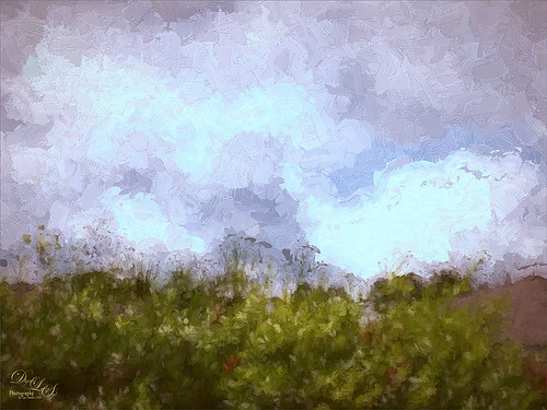 Image of Clouds from my Front Porch with Topaz Impressions applied