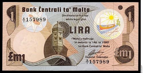 Malta 1 Lira replacement note