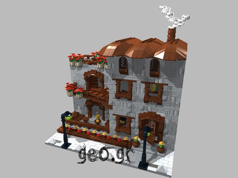 [Digital MOC]:Modular Cottage House 15298100332_06083bc3f9_c