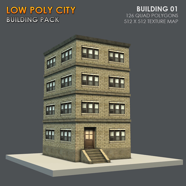 Low Poly City Blender