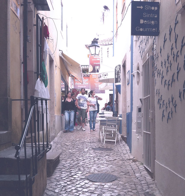 Streets, Sintra, travel, Portugal, cobblestone