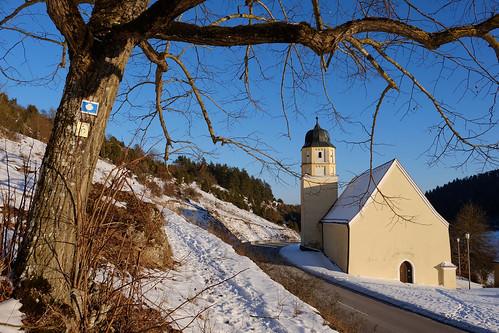 Wallfahrtskirche Stettkirchen im Winter