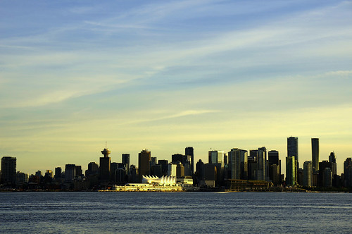 vancouver downtown burrardinlet bc canada britishcolumbia canadaplace sunset cruiseterminal