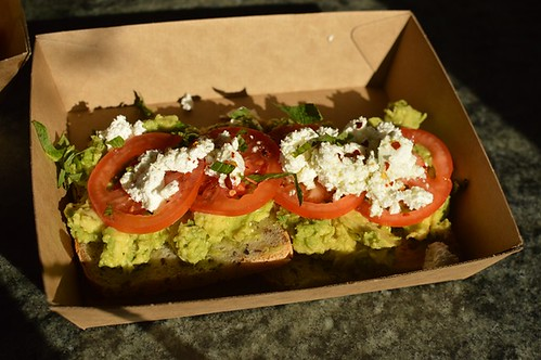 The Grounds of Alexandria: Smashed avocado on GF toast
