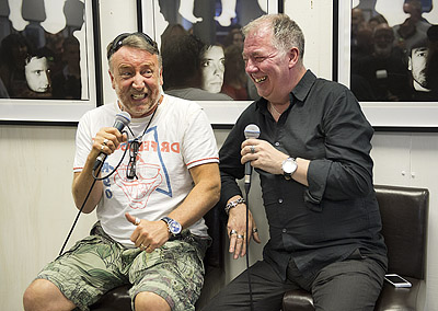 Peter Hook and Kevin Cummins open New Order Photographic Exhibition