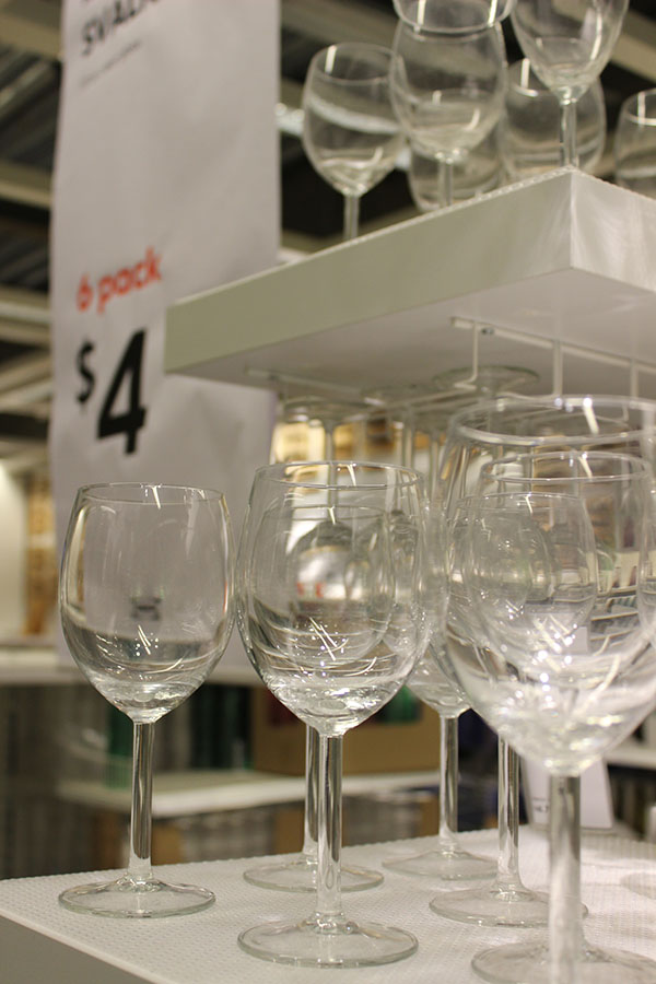 ikea glassware, cast iron, crockery, stoneware