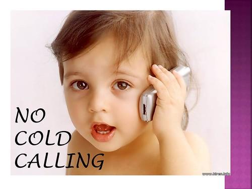 no cold calling - baby
