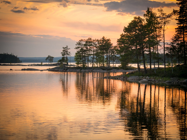 Sunset at Stora Gla Sweden