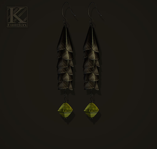 (Kunglers) TDRF #043 earrings - black