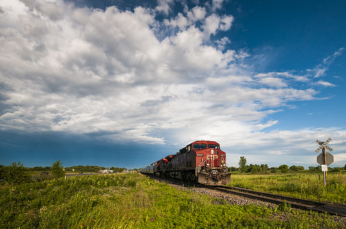 railroad sky storm minnesota clouds train unitedstates happybirthday medina thunderstorm canadianpacific freight stormlight cp9627