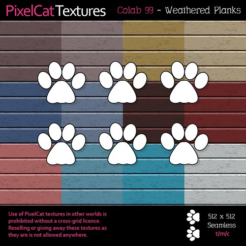 PixelCat Textures - Colab 99 - Weathered Planks