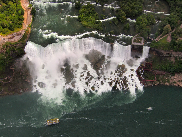 Niagara Falls from a Helicopter