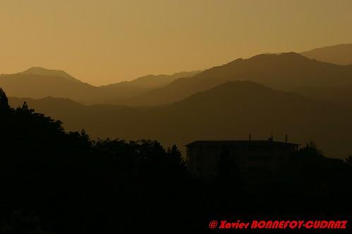 sunset takayama chūbu japonle