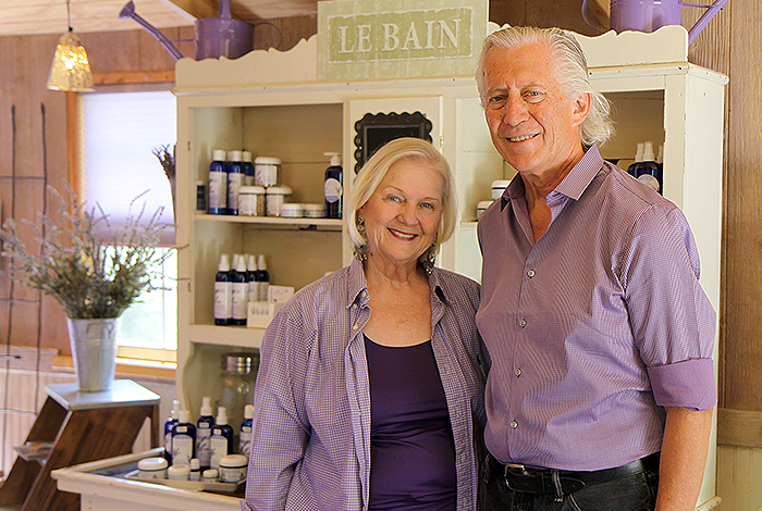 Elizabeth and Roger Inman of Purple Adobe Lavender Farm in Abiquiu. The company was one of the 2014 LANS Community Commitment Plan's beneficiaries by winning a Venture Acceleration Fund award this year.