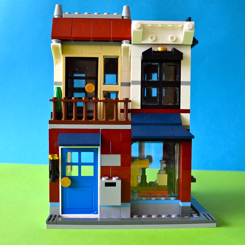 Rear of LEGO auto-repair shop