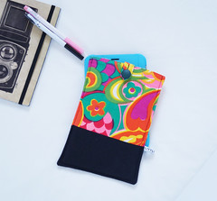 "Vintage 1960s Psychedelia Vintage 7"" Tablet Sleeve by little minx - available at http://felt.co.nz/shop/littleminx"