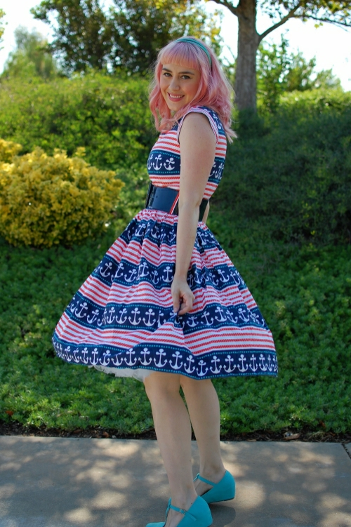 Bernie Dexter Jackie Dress Nautical Print 033