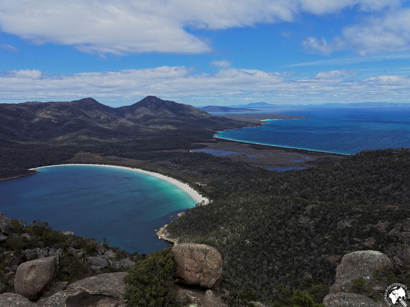 Wineglass bay et Hazard beach depuis le Mont Amos