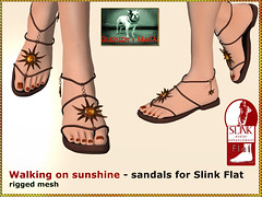 Bliensen - Walking on sunshine - sandals for Slink Flat Feet