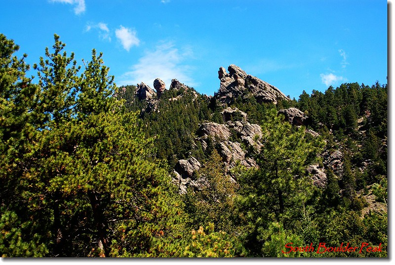 Craggy rock formations along Shadow Canyon