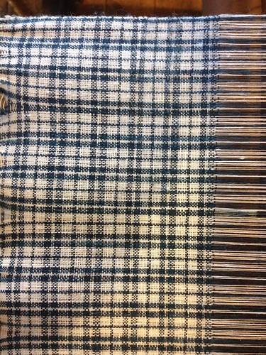 Hand-woven checked linen