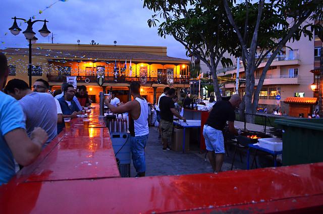 Sardine stall, Sardinada, Puerto de la Cruz, Tenerife