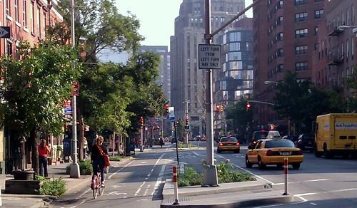紐約曼哈頓單車網路密集成熟!紐約可以!台北不行?攝影:高志文