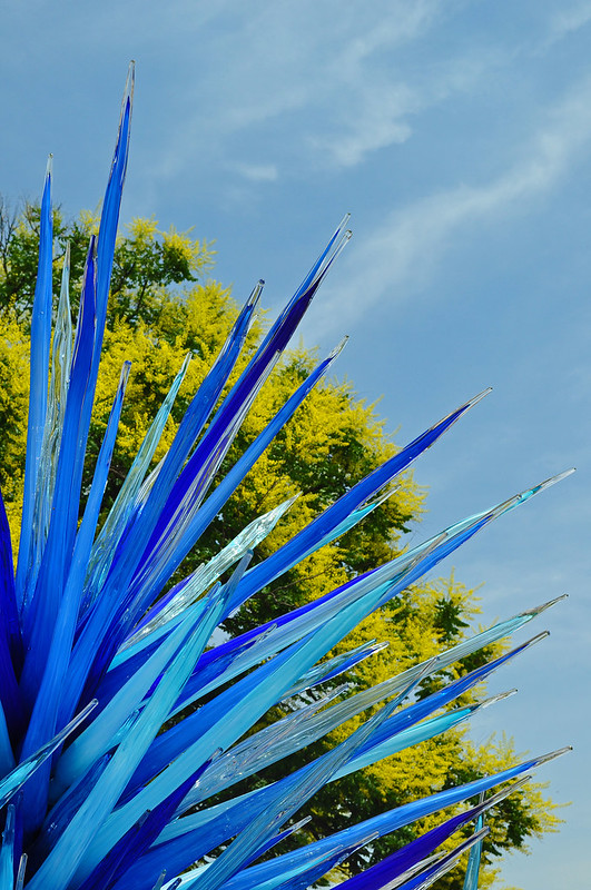 Chihuly 'Lapis Icicle Tower' (3)