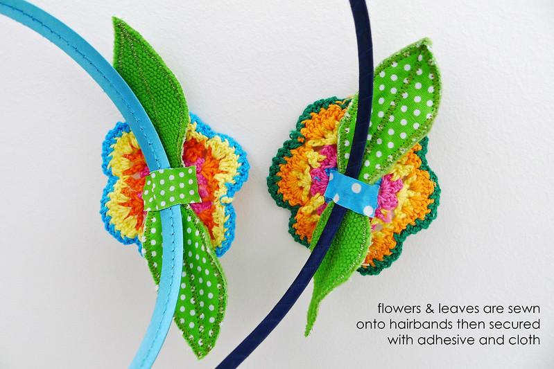 Pinkxessorize! Flower Crochet Hairbands