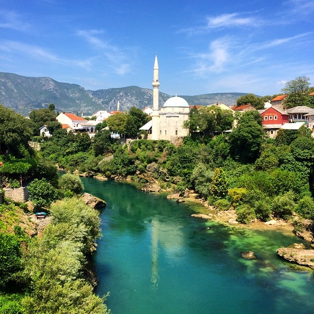 View from the Old Bridge, Mostar