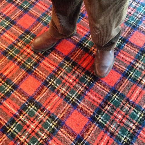 Bet you 'be never seen a tartan carpet before #gleneaglescottageandcabin