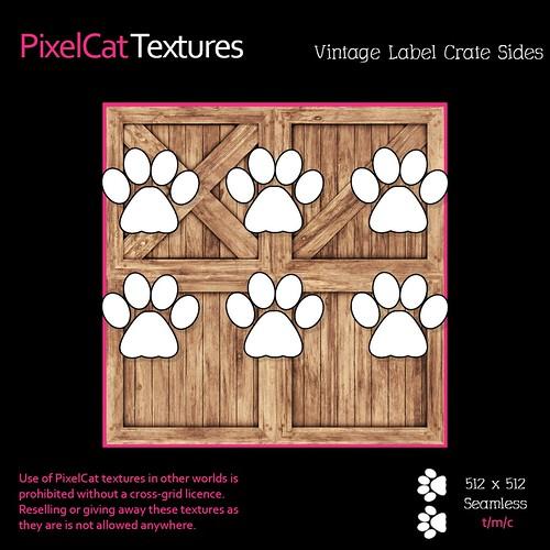 PixelCat Textures 6Pack - Vintage Label Crate Sides