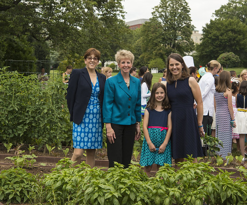 Pictured left to right, Jackie Haven and Angie Tagtow with Anabel Bradley and her mother, Julia Bradley. Anabel submitted the 2014 winning recipe from Iowa.