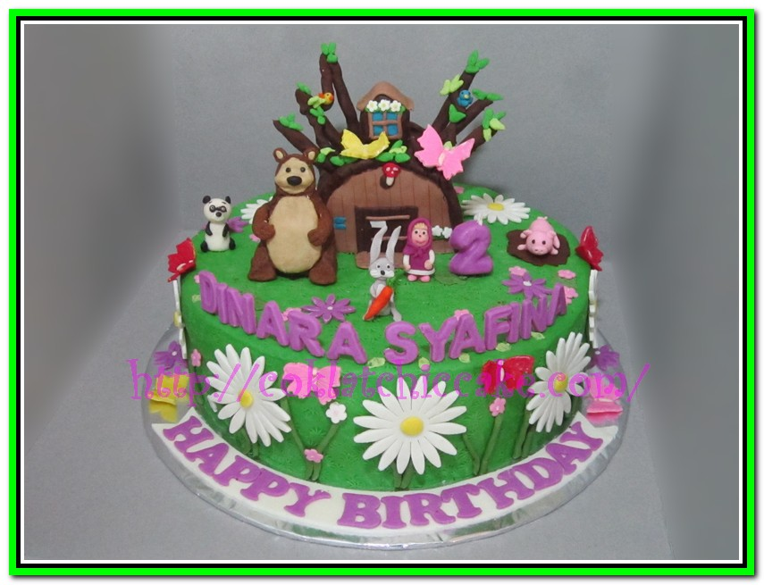 Kue ulang tahun marsha and the bear