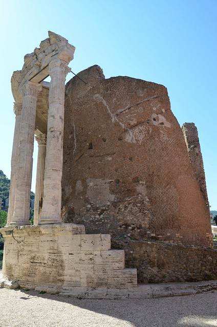 Temple of Vesta, built in the early 1st century BC on the acropolis of Tibur, Tivoli