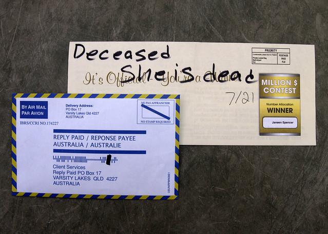 Scam from Australia
