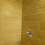 Tilework in shower bathtub combo