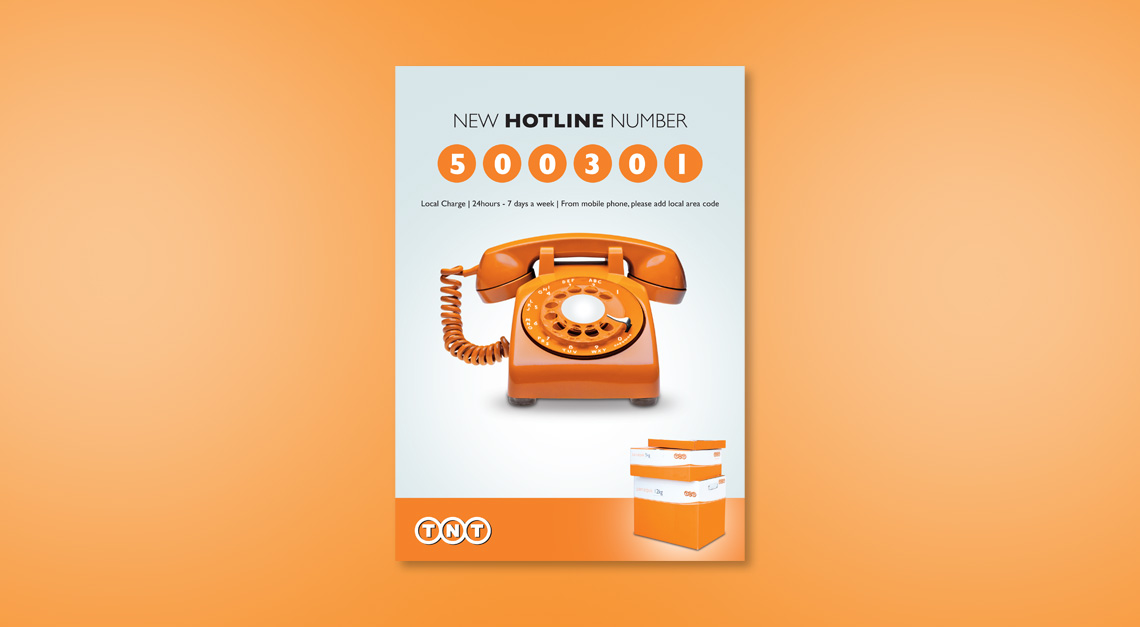 TNT Logistics Hotline Flyer