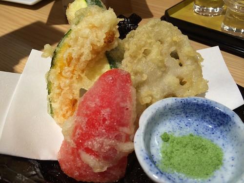 夏野菜の天ぷら盛り合わせ@そら