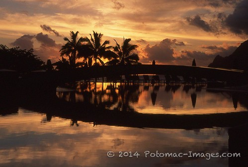 sunset clouds hawaii fujichrome