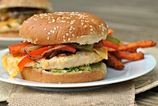 Fajita Chicken Burger 3