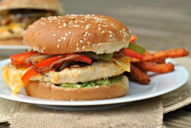 Fajita Chicken Burger 3