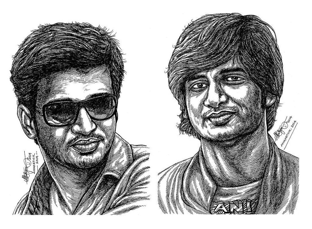 Line Drawing Portrait Artists : Artistic artwork drawing line aesthetic